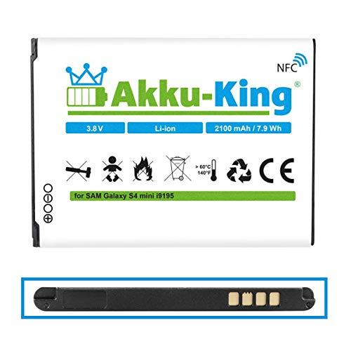 Akku-King Akku kompatibel mit Samsung EB-B500BE, EB-B500BU - Li-Ion 2100 mAh - mit NFC - für Galaxy S4 Mini i9192, i9195