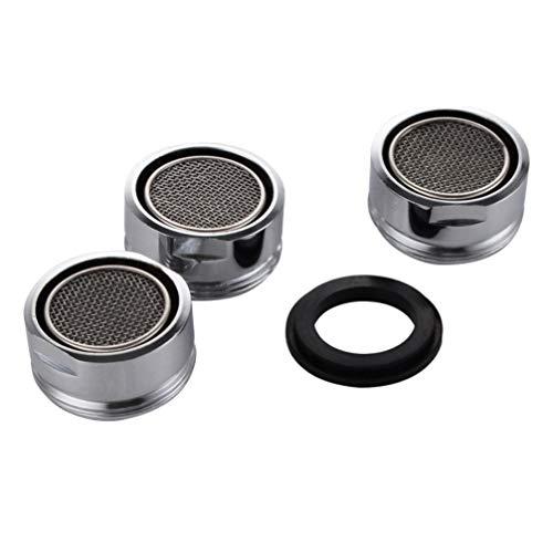 TOPBATHY - 6 grifos de acero inoxidable para la cocina, el baño (24 mm), color plateado