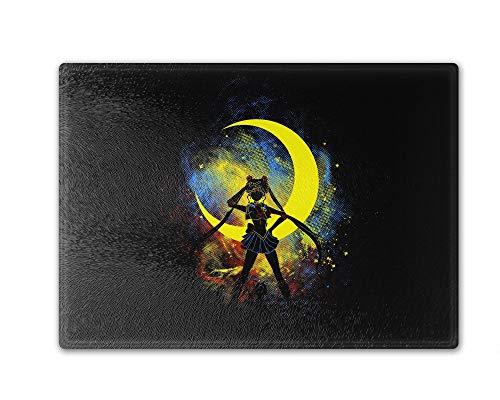 Moon Art Cutting Board Tempered Glass 8 x 11