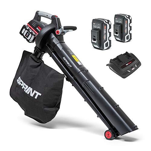 Sprint 18LBVK Dual 18V (36V) Li-Ion Cordless Leaf Blower Vacuum Kit, 247 km/h Air Velocity, Brushless Motor, 45L Soft Bag, Including 2x5.0Ah Batteries and Charger, 5 Years Warranty, 1697308, 18 V