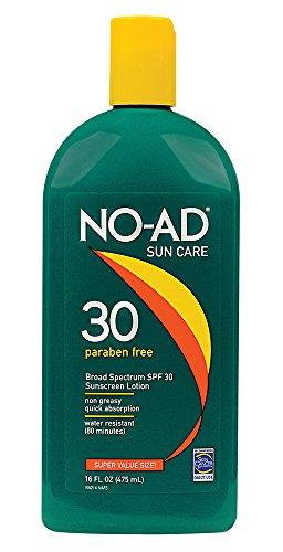 NO-AD Sun Care Sunscreen Lotion, SPF 30 16 oz