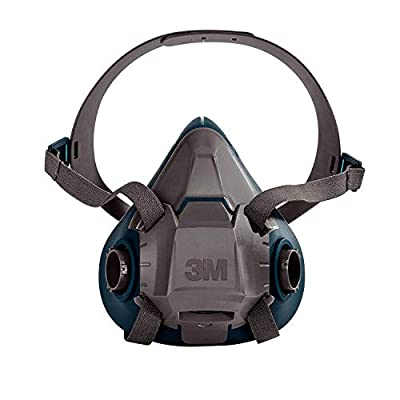3M Rugged Comfort Half Facepiece Reusable Respirator 6502/49489, Medium