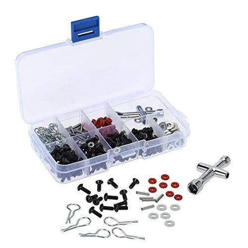 ShareGoo Special Repair Tool & Screws Box for HSP Redcat Traxxas CC01 Axial SCX10 HPI 1/10 RC Car Truck (240/Lot)