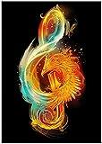 Arte de la lona pintura música renacimiento notas musicales arte cartel creativo lienzo pintura sala de estar dormitorio decoración pintura 70x90 cm sin marco