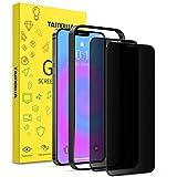 TAMOWA 2 Piezas Protector Pantalla Privacidad Compatible con iPhone 12 Pro Max(6.7'), 3D Cubierta Completa Anti Spy Cristal Templado, Anti Espía Vidrio Templado Compatible con iPhone 12 Pro Max,Negro
