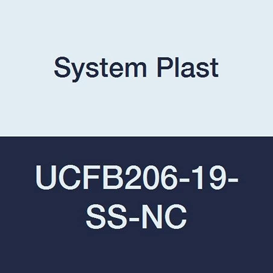 System Plast UCFB206-19-SS-NC Flange Bracket Bearing, White Nolu-Clean Housing with 1.1875