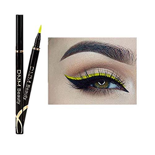 Syeytx Metallic Shiny Smoky Eyes Lidschatten wasserdichte Glitzerflüssigkeit Nicht blühender Eyeliner
