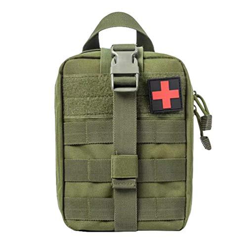 Kaiyei Militär Tactical First Aid Tasche, Erste Hilfe IFAK Tasche Überlebens Kit Molle Notfalltasche Medzinische Bauchtasche Wasserdicht 900D Oxford für Wandern Radfahren Camping Armeegrün