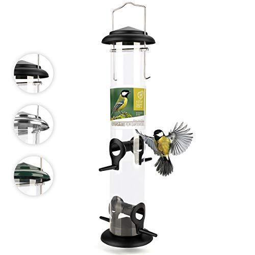 corazón animal salvaje | Salvamanteles de 39 cm, de metal inoxidable, comedero para pájaros, comedero para pájaros silvestres, color negro