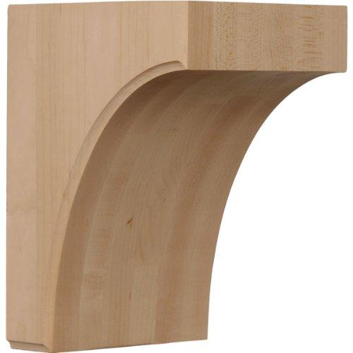 Ekena Millwork BKTW05X06X08CVRW 5 1/2-Inch W by 6-Inch D by 8-Inch H Clarksville Bracket, Rubber Wood