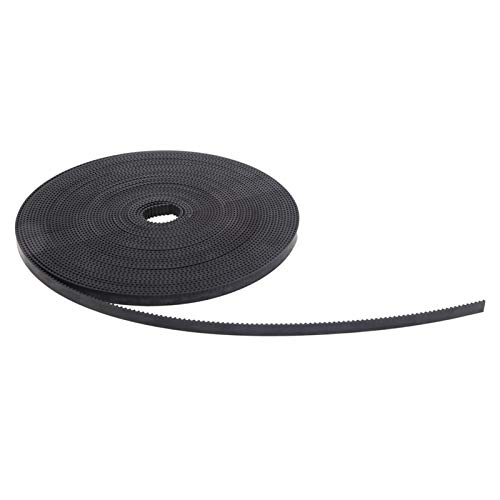 Timing Belt, Black Color, 3D Printer Accessories 3D Printer Belt,(10M)