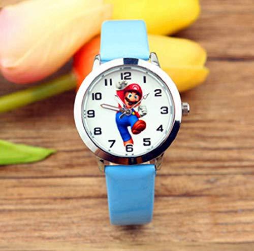QIMA Reloj Super Mario Super Mario Bros Juguetes Dibujos Animados Mario Odyssey muñeca niños Reloj niños niñas niños Estudiantes Relojes de Pulsera de Cuarzo Figuras Juguetes Regalos