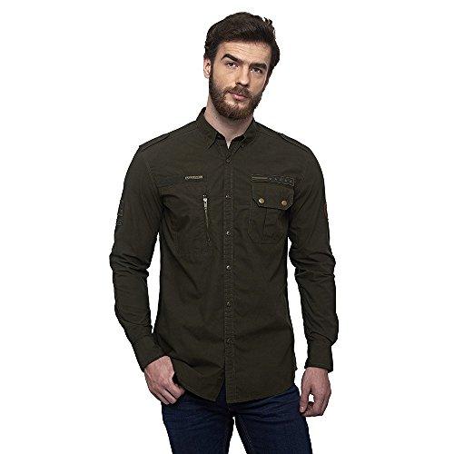 Royal Enfield RLASHI000004 SHSS18001 Flecktarn Shirt (Olive, XL)