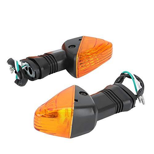 Akozon Indicatore di direzione 2PCS Accessori per modifica moto Indicatore di direzione per NINJA ZX-6R 636 600 ZX-6RR KLE 500 KLE 650 VERSYS KLR 650 Z750S(Nero + Giallo)