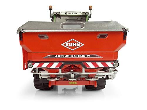 Universal Hobbies–Dispensador de Fertilizante Kuhn Axis 40.2M EMC W, uh5366, Rojo