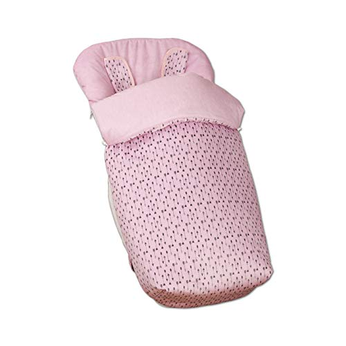 Babyline Arrow - Saco de silla con manoplas, unisex, color rosa