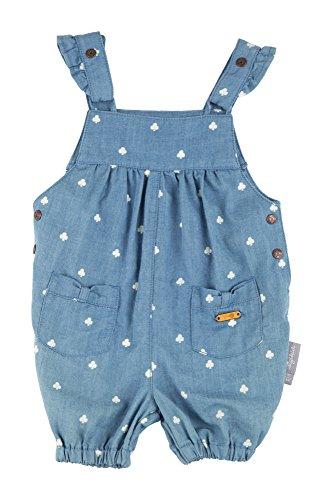 Sigikid Baby-Mädchen Latzbermudas, Latzhose, Blau (Denim Light Blue 590), 98 (Herstellergröße: 62)