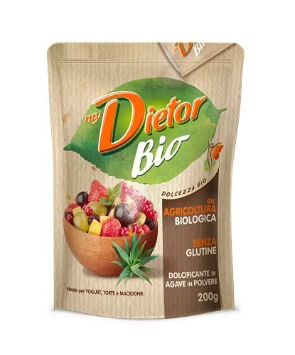 Dietor - Mydietor Bio Dolcificante Naturale Biologico Sfuso, Agave In Polvere, Senza Glutine - 200G