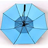 Sumerlly Spray Fan Umbrella Long Handle Summer Cooling Umbrella Sunny Rainy Day Dual Purpose