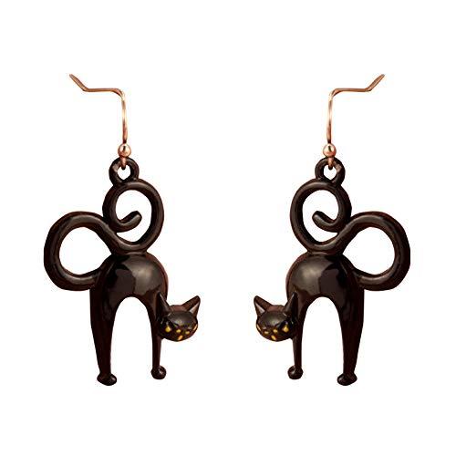 Moent 1 pair Earrings, Halloween Gothic Ghost Spider Skull Earrings Female Funny (H)
