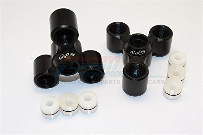 Arrma black 6S BLX (AR106009, AR106011) & Fazon 6S BLX (AR106020) Upgrade Parts Aluminum Rear Knuckle Arms  1Pr Set Black
