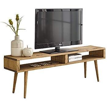 Mesa televisión, Mueble TV salón diseño Vintage 2 Huecos, Madera Maciza Natural, fabricación Artesanal. 140 cm x 40 cm x 30 cm: Amazon.es: Electrónica