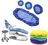 4 piezas / Set dentista asiento a prueba de polvo de la PU cubierta de cuero elástico impermeable dentista Equipme protector adecuado para clínicas dentales y salones de belleza silla del asiento ,D