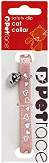 Petface Pink with Mixed Heart Motifs Cat Collar