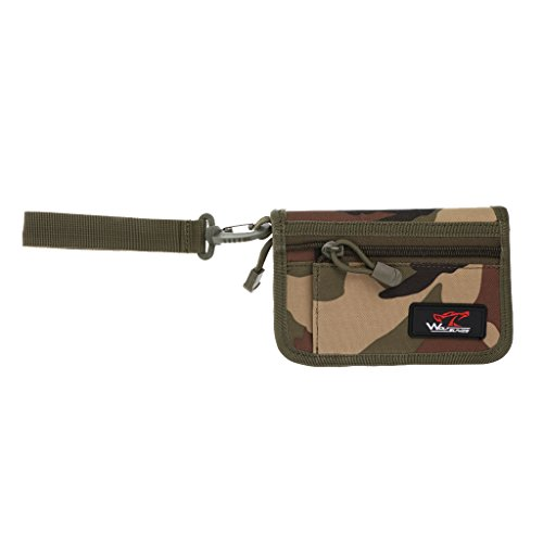 Gazechimp Portefeuille Sac Tactique Militaire Multi-poches pour Carte de Crédit, Mobile - Camo, 17 * 11 * 3,5 cm