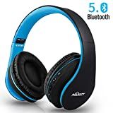 Bluetooth Kopfhrer Over Ear, Puersit Noise Cancelling Kopfhrer Kabellose Faltbare Hi-Fi Stereo...