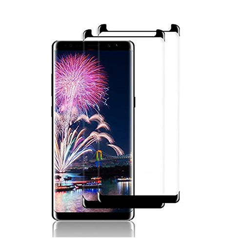 [2 Pack] Galaxy Note8 Screen Protector,Tisen [3D Curved Edge][Case Friendly] Ultra Clear 9H Hardness Tempered Glass Screen Protector Bubble-Free Film Compatible Samsung Galaxy Note 8, Black
