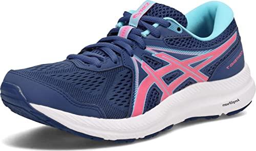 ASICS Women's Gel-Contend 7 Running Shoes, 7, Midnight Blue/HOT Pink