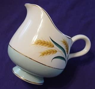 Vintage International Viking China Pretty Aqua Wheat Open Creamer
