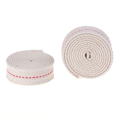 Plat Mèche Runddocht Huile 100/% coton 1,5 mm 22 mm