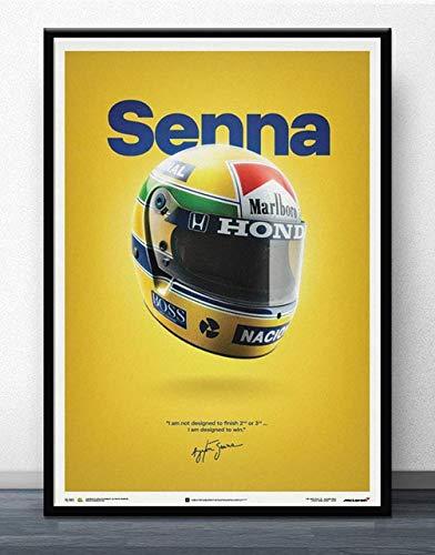 wqmdeshop Carteles Y Fotos Ayrton Senna F1 Formula World Championship Cuadro sobre Lienzo para Pared Decoración De Habitación Moderna 50X70Cm -Jp702