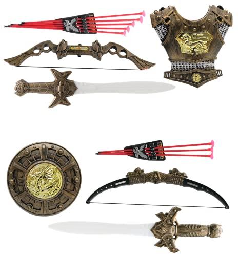 Kit Medieval C/ Espada, Escudo E Arco E Flecha