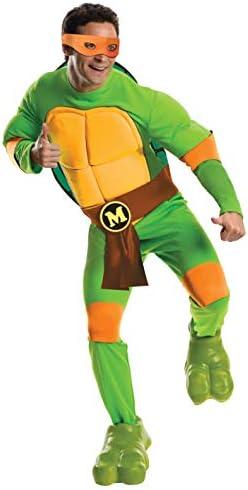 Rubie s Teenage Mutant Ninja Turtles Deluxe Adult Muscle Chest Michelangelo Green X Large product image