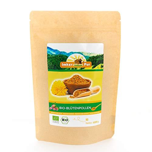 BIO-Blütenpollen / Bienenpollen in Premium-Imkerqualität, von ImkerPur, 500 g, komplett rückstandsfrei, süßlich-mild