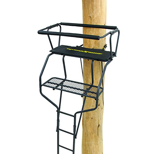 Rivers Edge RE649 2-Man Ladder Stand 18' 2-Man, Black