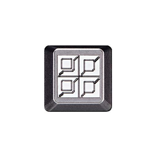 ゲーミングキーボード 1PC KeyCap Battle City Tank Artisan KeyCap陽極酸化アルミ対互換MX Opener Esc 耐久性、耐摩耗性、防水性 (Color : BC Steel x1)