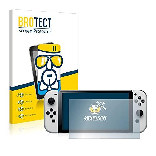 BROTECT Protector Pantalla Cristal Compatible con Nintendo Switch OLED-Modell Protector Pantalla Vidrio...