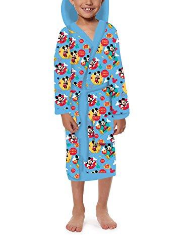Jerry Fabrics Albornoz con Capucha para Niños con Bolsillos, Poliéster, Multicolor, Tamaño 4-6