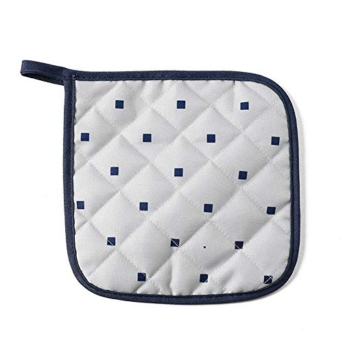 OUY Gaming Chair Massage Startseite Stoff Isolierung Pad Tischset Coaster Schüssel Pad Pot Platte Anti-heißen Pad Heat Resistant Extra gepolsterter Bürostuhl (Color : Blue Squares, Size : 18x18cm)