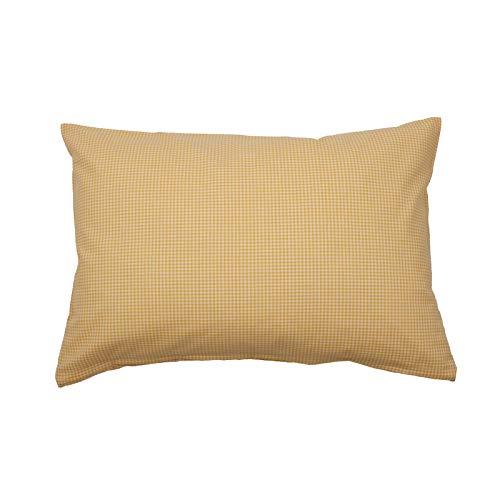 Hans-Textil-Shop Cushion Cover Vichy Checked 2 x 2 mm - Checked Sofa Cushion, Decorative Cushion, Seat Cushion, Decorative Cushion (30 cm x 30 cm, Yellow)