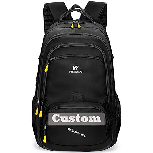 Nome personalizzato Nome personalizzato Donne day Day Pack 40L Zaino da escursionismo impermeabile leggero (Color : Nero, Taglia : One size)