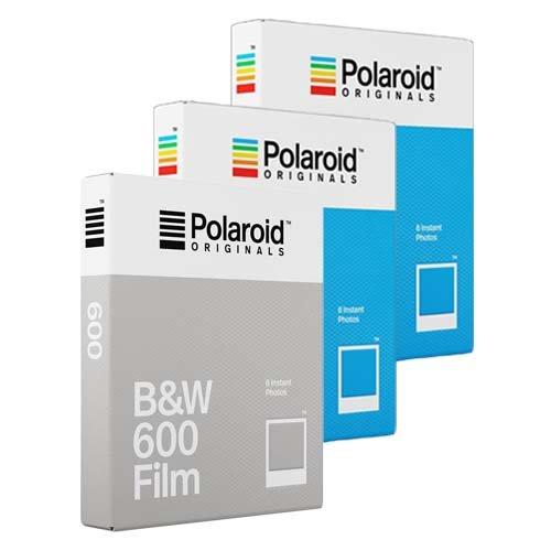 Polaroid Originals Film – Dreierpack – 2 x Farbfilm, 1 x Schwarz-Weiß-Film