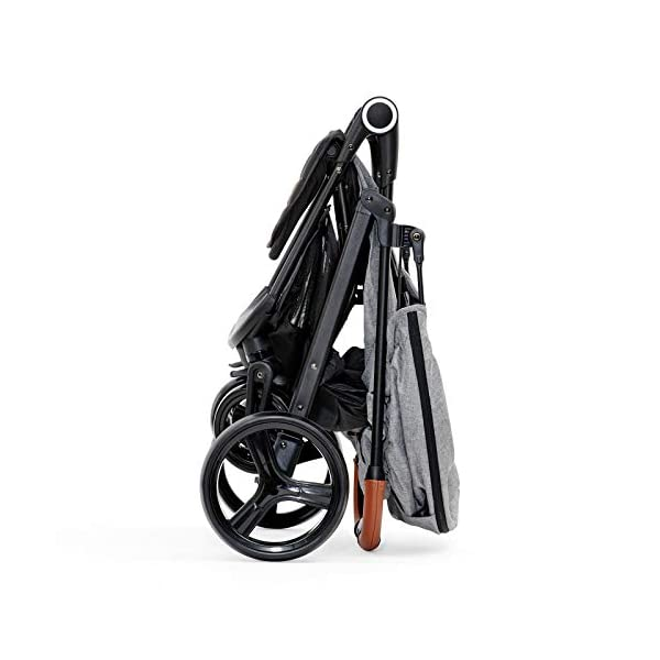 Kinderkraft Lightweight Stroller Grande, Stylish Pushchair, Baby Buggy, Foldable, Lying Position, Big Ajustable Hood, with Accessories, Rain Cover, Footmuff, from Birth to 3.5 Years, 0-15 kg, Gray kk KinderKraft BIG, ADJUSTMENT HOOD - Very large sun/wind shade, which may be extended by using the zip fastener COMFORT AND CONVENIENCE - Wide seat providing comfort and ensuring a long period of using the pushchair EASY HANDLING - Front swivel wheels provide easy manoeuvring, they may be locked for the straight-ahead drive. All four wheels with bearings and shock absorbers 7