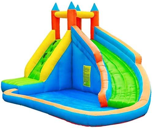YYM Hüpfburgen Spielplatz Trampolin Aufblasbares Schloss Haus Kinderrutsche Spielzeug im Freien Klettern...