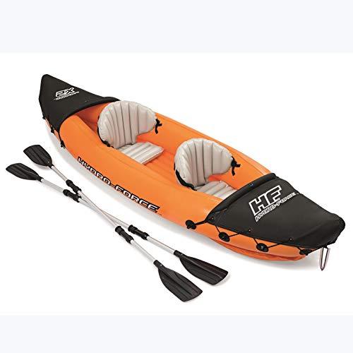 Barco Inflable de Kayak con Paleta de Aluminio al Aire Libre Kayak Asalto Barco Inflable Barco de Pesca Engrosado Caucho Bote de Goma Bote