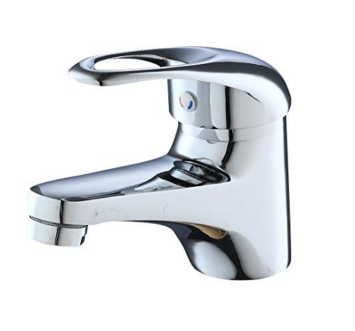 Eridanus Grifo de Lavado para Baño, Grifo Mezclador Cromdo de Lavabo de Aleación de Zinc con Control de Agua Fría y…